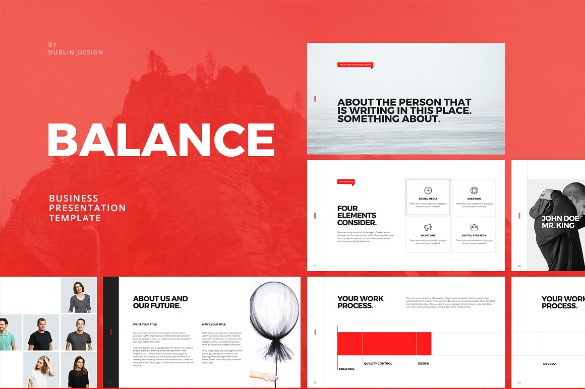 balance business powerpoint vizualus