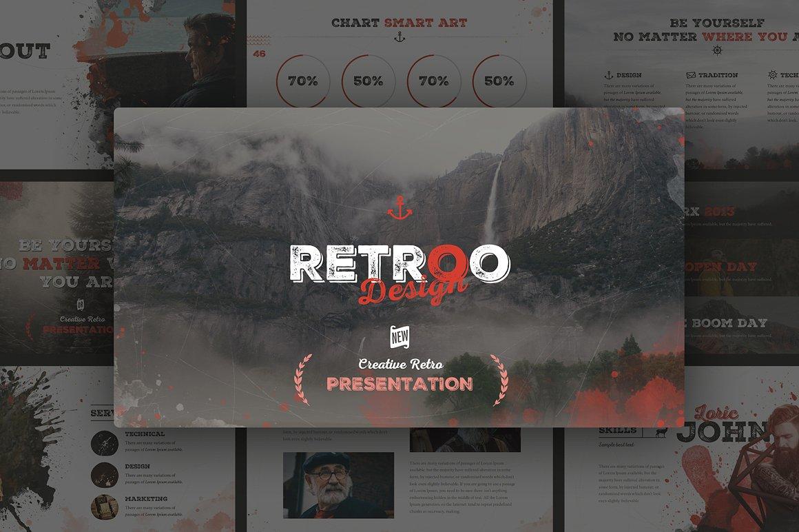 RETROO Powerpoint Template   Vizualus