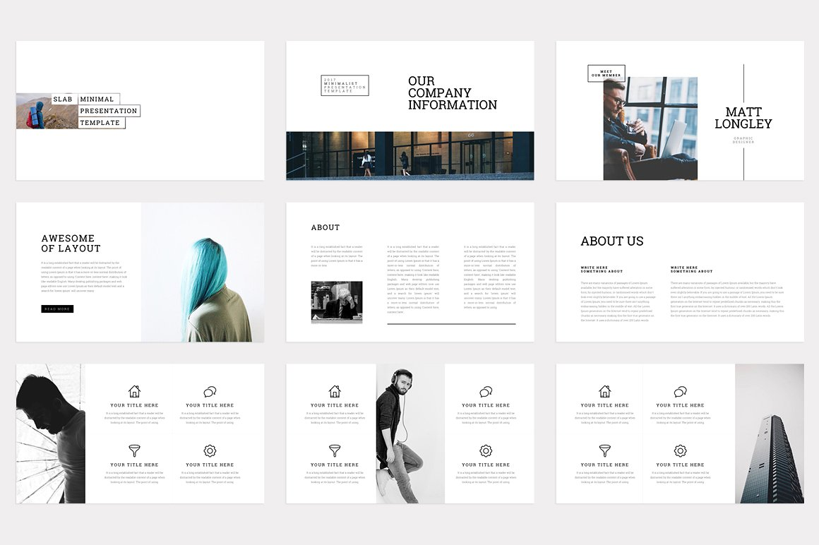Powerpoint templates minimal choice image powerpoint for Minimalist powerpoint template free